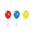 red blue and yellow balloons isolated vector image