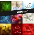 restaurant timeline infographics with blurred vector image