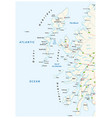 road map scottish archipelago hebrides at the vector image vector image