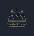 roasted chicken logo vector image vector image
