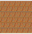 Seamless colorful Orange Triangulate Pattern vector image vector image