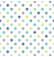 Seamless pastel pattern blue polka dots background vector image vector image