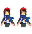 Sneezing Woman2 vector image vector image