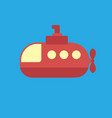 submarine icon set of great flat icons for vector image