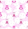 Teddy Bear Pink Seamless Pattern vector image