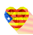 the estelada heart with the flag of the catalonia vector image