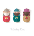 The three Kings of Orient wisemen vector image vector image