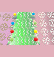 vintage christmas background with green tree and vector image