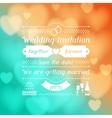 Wedding invitation card in retro style vector image vector image