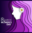 women day greeting card with flower vector image vector image