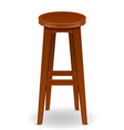 wooden bar chair stool set icons vector image vector image