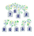 Houses concept for real estate company vector image