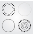 Collection round decorative frames and labels vector image