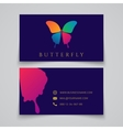 Bussiness card template Butterfly logo vector image