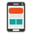 cellphone with webpage on screen icon vector image