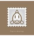 Fish stamp Animal head vector image