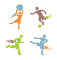 Active boys fitness sports set 2 vector image