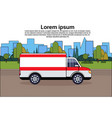 ambulance emergency car on road medical vehicle vector image