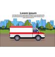 ambulance emergency car on road medical vehicle