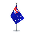 australian flag hanging on the metallic pole vector image