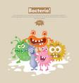 bacteria flat cartoon web banner vector image vector image