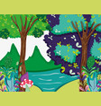 beautiful forest scenery vector image vector image