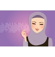 beautiful girl wearing scarf hijab veil smile vector image