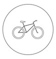 bicycle icon black color in circle vector image vector image
