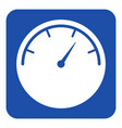 blue white information sign - gauge dial symbol vector image vector image