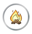 Campfire icon in cartoon style isolated on white vector image vector image