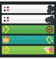 Casino or poker banners vector image