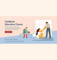 childbirth education classes woman with husband vector image