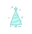 christmas tree icon design vector image vector image