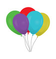 colorful balloons bouquet vector image vector image