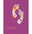 colorful oriental flowers footprints vector image vector image