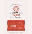 family recipe almonds liquor acohol label vector image vector image