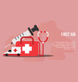 first aid concept design template vector image