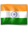 Flag of India vector image vector image