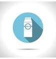 flat milk bottle vector image vector image