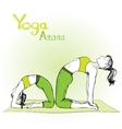 girl and woman doing yoga poses vector image vector image
