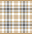 gold gray white check fabric texture seamless vector image vector image