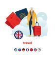 gourmet traveller vector image