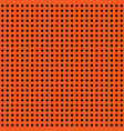 halloween polka dot background orange and vector image vector image