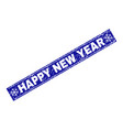 happy new year grunge rectangle stamp seal with vector image vector image