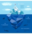 iceberg infographic template business vector image vector image