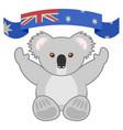 icon koala vector image