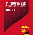 independence day of angola flag and patriotic vector image