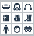 job safety and protection related icon set 2 vector image