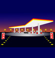 location of oil pump at night vector image