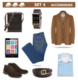Male Accessories Set 4 vector image vector image